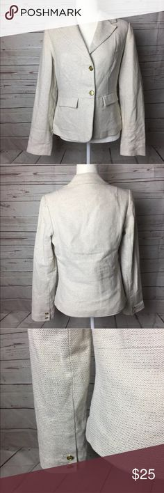 NWOT Old Navy Tweed Career Womens Blazer Sz Medium New with out tags Old Navy blazer cream and gold.   Measurements:  Bust- 18  inches laying flat  Waist- 16 inches laying flat  Length- 22 inches laying flat   Thank you for shopping my store.     B52 Old Navy Jackets & Coats Blazers