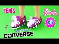 DIY ✄ Como hacer ZAPATOS TENIS para MUÑECAS Barbie, Monster High | Manualidades para muñecas - YouTube