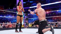 'Total Divas' star Nikki Bella gets engaged to fellow wrestler and 'American Grit' host John Cena Total Divas star Nikki Bella accepted a marriage proposal from her longtime boyfriend John Cena after a wrestlingmatch and she couldn't be happier. #TotalDivas #AmericanGrit #TotalBellas #JohnCena #TheMiz #BrieBella #NikkiBella @AmericanGrit