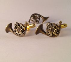 Awesome Gift Set of Men's Brass Metal French Horn by Lynx2Cuffs, $31.99