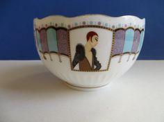 Vintage Art Deco Bone China Bowl Esprit d'Erte by YaYasAttic, $28.00