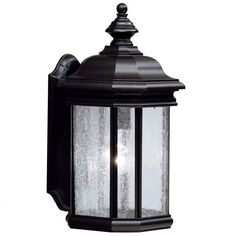 "View the Kichler 9029 Kirkwood Collection 1 Light 17"" Outdoor Wall Light at LightingDirect.com."