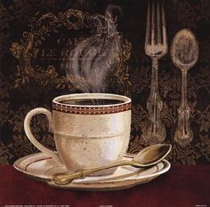 Cafe Rouge By Conrad Knutsen Coffee Painting Coffee Art Cafe Art