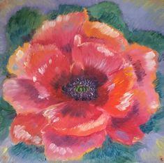 Buy Paintings, Watercolor Paintings, Original Paintings, Original Art, Poppies Painting, Beautiful Paintings Of Flowers, Oil On Canvas, Canvas Art, Red Poppies