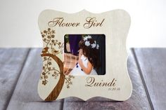 Hey, I found this really awesome Etsy listing at https://www.etsy.com/listing/203984254/personalized-flower-girl-picture-frame