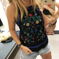 Embroidered tank! $17.99 link in profile to shop! #targetdoesitagain