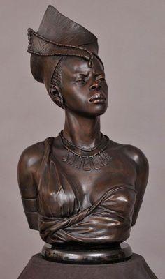 Stone Sculptures, Full Figure Portrait Sculpting by Philippe Faraut African American Art, African Art, Art Beauté, African Sculptures, Sculpture Painting, Afro Art, Black Artists, Art Moderne, Black Women Art
