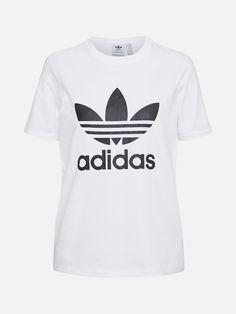 Adidas Originals T-Shirt 'Trefoil' Schwarz / Weiß adidasadidas Adidas Originals, The Originals, Adidas Logo, Neue Trends, Athletic Tank Tops, Mens Tops, Products, Fashion, Modern Fashion