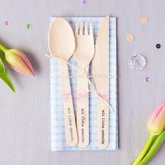 Die Holzbesteckrunde wird komplettiert I Momentstempel von Papierprojekt I Two more ideas with wooden cutlery