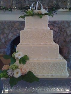 3 Tiered Wedding Cake For Mr And Mrs Daigle Iop Sc