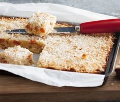 Coconut & Apricot Slice: This healthy coconut apricot slice is the perfect pick-me-up for a work lunch-box. http://www.bakers-corner.com.au/recipes/slices/coconut-apricot-slice/