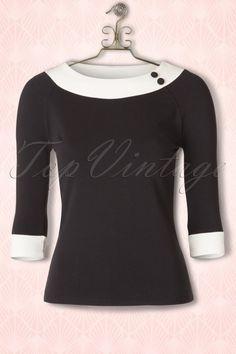Mademoiselle Yeye Rosa Top in Black 113 10 15885 20150820 003Haakje