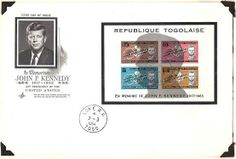 Issued by Republic of Togo. IN MEMORIAM.