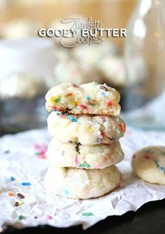 Cookies and Cups Funfetti Gooey Butter Cookies