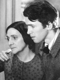 """Jimmy Stewart and Beulah Bondi in """"Of Human Hearts"""" (1938). Beulah Bondi portrayed James Stewart's mother five times: In """"It's a Wonderful Life"""" (1946), """"Mr. Smith Goes to Washington"""" (1939), """"Of Human Hearts"""" (1938) and """"Vivacious Lady"""" (1938), and once on the television series """"The Jimmy Stewart Show"""" (1971)."""