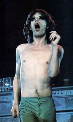 Mick Jagger in action, 1975