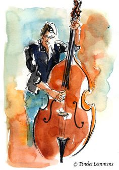 Bass player in miniature | by Tineke Lemmens