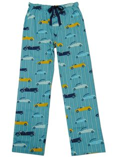 """Our PJ Salvage Men's """"Transport Cars"""" Cotton Pajama Pant in Teal makes a great gift for guys $42 - SHOP http://www.thepajamacompany.com/store/18795.html?category_id=10998"""
