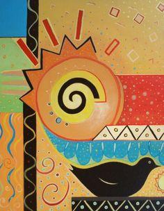 "Acrylic on canvas, ""Good Morning,"" by Helena Tiainen, Fine Art America."