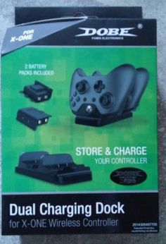 Dobe Dual Charging Dock & battery packs For Xbox One Controllers NEW USB