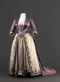 Worth dress, 1885-90