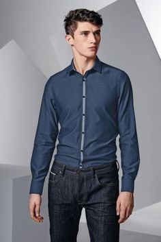 Buy Navy Taped Shirt from the Next UK online shop