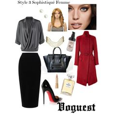 Style 3 Sophistiqué Femme by thevoguestparis on Polyvore featuring polyvore, mode, style, Repeat, Donna Karan, Tome, Christian Louboutin, CÉLINE, Chanel, MAKE UP FOR EVER, Dolce&Gabbana and Maybelline