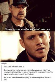 If someone says Jensen can't act, show them this.<<<the entire cast is made up of phenomenal actors