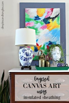 Layered Canvas Artwork Tutorial   ||  Dimples and Tangles