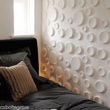 12Pcs 3D Crater Design Wall Panel Innovative Modern Style House Home Decoration