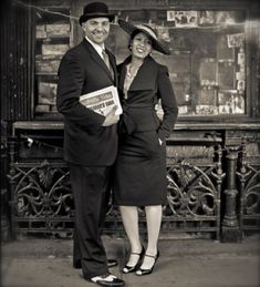 Beautiful couple during the Harlem Renaissance