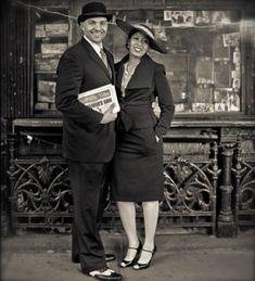 Beautiful couple during the Harlem Renaissance