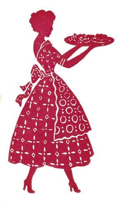 feminine silhouette, hair done, good posture that gives confidence, fashion correctness, the old days ... when homemakers served with style.  They had more time and enjoyed homemaking and were not ashamed of their work at home!