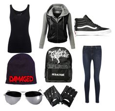 """""""IDGAF Outfit"""" by wolfnerd1 ❤ liked on Polyvore featuring Juvia, J.TOMSON, J Brand and Vans"""