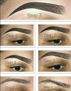 Easy brow tutorial - fill in eyebrows with the brow pomade in chocolate. Step Easy brow tutorial - fill in eyebrows with the brow pomade in chocolate. Tweezing Eyebrows, Microblading Eyebrows, Threading Eyebrows, Threading Salon, Eyebrow Makeup Tips, Eye Makeup, Makeup Hacks, Makeup Brush, Maquillage On Fleek