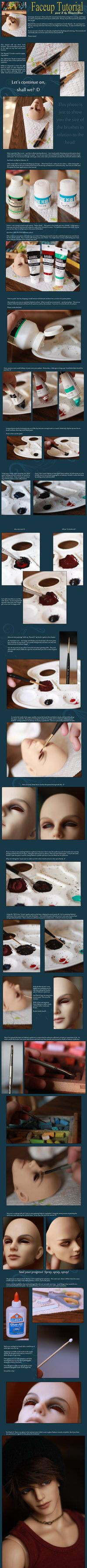 BJD Faceup Tutorial - Part 2 by RoosterBlue