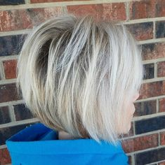 Teased Long Layered Blonde Bob