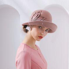 3cc79aca Woman Autumn And Winter Party Formal Hat Nobel Lady Veil Fedora Hat England  Fashion Elengant Irregular 100% Wool Felt Hats [orc32927168276] - $51.18 :  ...