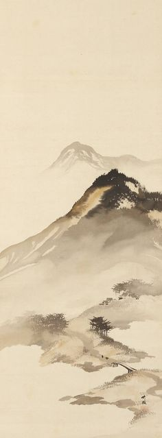 Mountain Landscape with Bridge by Odake Chikuha, 1878-1936 尾竹竹坡 Japan