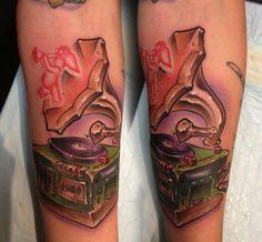 Dumbo, music, phonograph tattoo