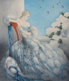 Symphony in Blue - Louis Icart