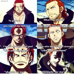 I like Gildarts in his daddy mode but Shanks is better