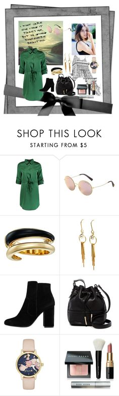 """Off exploring..."" by onlyconnect-dm ❤ liked on Polyvore featuring Boohoo, Michael Kors, MANGO, French Connection, Kate Spade and Bobbi Brown Cosmetics"