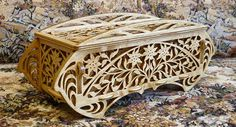 Ducth box old Italian designs wooden box scroll saw fretwork pattern