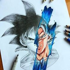 Goku is done 🔥 I like how it turned out! After this I will make a collaboration on strathmore, but don't worry, I will… Manga Art, Manga Anime, Anime Art, Art Sketches, Art Drawings, Arte Hip Hop, Ladybug Art, Anime Tattoos, Anime Kunst