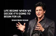 Shahrukh Khan Quotes: I was told to cut my hair and to change my name because someone said, there could not be a movie star by the name of Shah Rukh Khan.