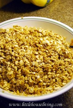 I love granola, but honey is pricey.  Here's a great recipe without...