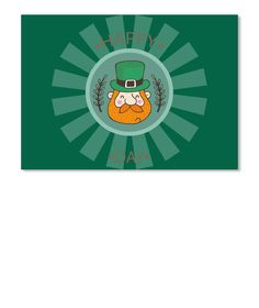 St. Patrick's Day Tshirt Forest Green Sticker Front