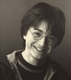 Harry potter- it's kinda weird to see him smiling so hugely.