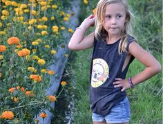 Tevita clothing / kids fashion / kids cute clothing / boys and girls unisex / muscle tank singlet / guns and roses print / made in bali / cute girl with flowers / surf street style